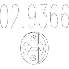 Кронштейн глушника на Мітсубісі Карізма MTS 02.9366.