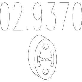 Кронштейн глушника на Мітсубісі Карізма MTS 02.9370.