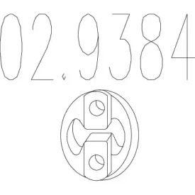 Кронштейн глушника на Мітсубісі Карізма MTS 02.9384.