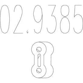 Кронштейн глушника на Мітсубісі Карізма MTS 02.9385.