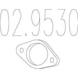 Прокладка приймальної труби MTS 02.9530.