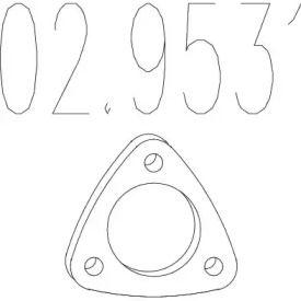 Прокладка приемной трубы на ALFA ROMEO 146 MTS 02.9531.