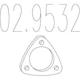 Прокладка приемной трубы на Альфа Ромео 146 MTS 02.9532.