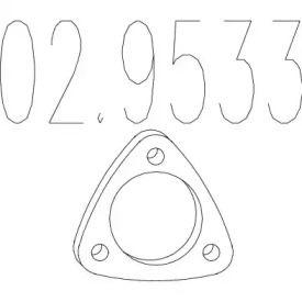 Прокладка приемной трубы на ALFA ROMEO 146 MTS 02.9533.