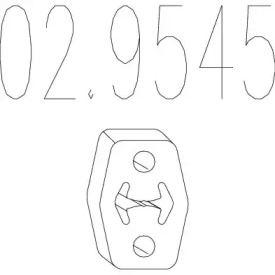 Кронштейн глушителя на Шкода Октавия А5 MTS 02.9545.