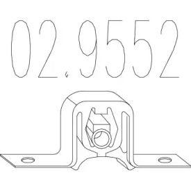 Кронштейн глушника MTS 02.9552.