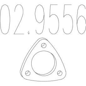 Прокладка приемной трубы на SEAT LEON 'MTS 02.9556'.