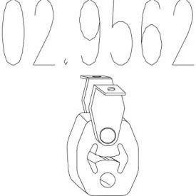 Кронштейн глушника 'MTS 02.9562'.