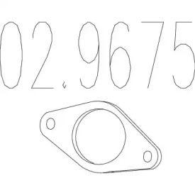 Прокладка приймальної труби на Мітсубісі Карізма 'MTS 02.9675'.