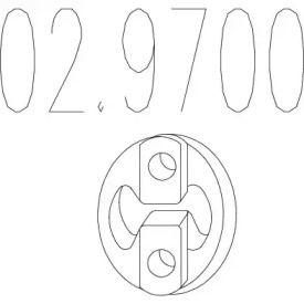 Кронштейн глушителя на SKODA OCTAVIA A5 MTS 02.9700.
