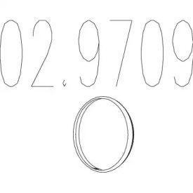 Прокладка приймальної труби 'MTS 02.9709'.