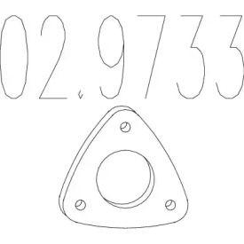 Прокладка приймальної труби на Деу Есперо MTS 02.9733.