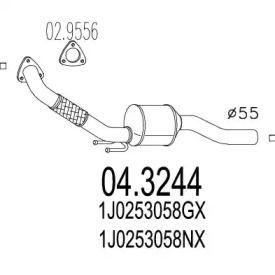 Катализатор на SEAT TOLEDO 'MTS 04.3244'.