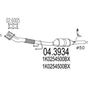 Катализатор на SEAT ALTEA 'MTS 04.3934'.