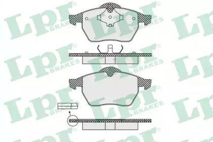 Гальмівні колодки 'LPR 05P639'.