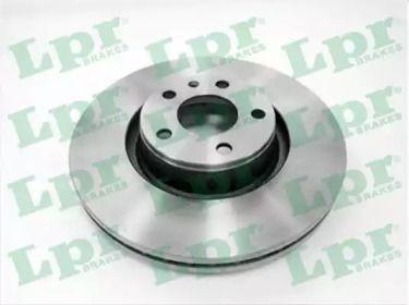 Вентилируемый тормозной диск на Ауди А6 Олроуд 'LPR A1019V'.