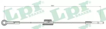 Трос ручного гальма 'LPR C0222B'.