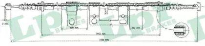 Трос ручного гальма на Мазда МХ6 LPR C0395B.