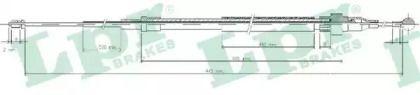 Трос ручника на Сеат Альтеа 'LPR C0938B'.