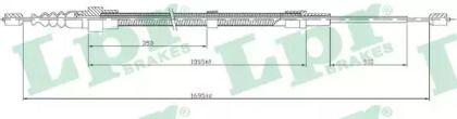 Трос ручника на Фольксваген Гольф 'LPR C0952B'.