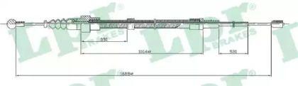 Трос ручника на Фольксваген Гольф 'LPR C0953B'.