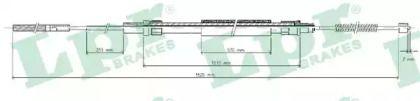Трос ручника на VOLKSWAGEN PASSAT 'LPR C0960B'.
