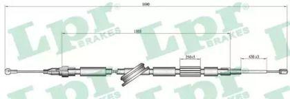 Трос ручника на AUDI TT 'LPR C1519B'.