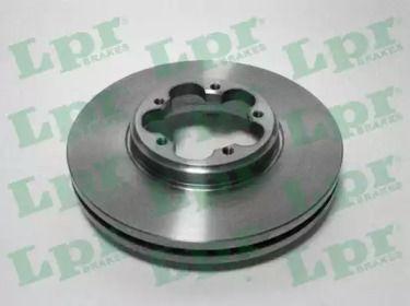Вентилируемый тормозной диск на Форд Турнео Кастом 'LPR F1037V'.