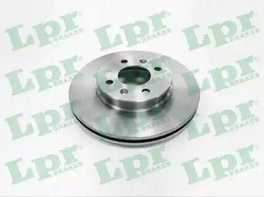 Вентилируемый тормозной диск на KIA RIO 'LPR K2014V'.