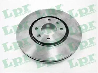 Вентилируемый тормозной диск на Пежо 406 'LPR P1211V'.