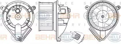 Вентилятор пічки HELLA 8EW 351 304-041.