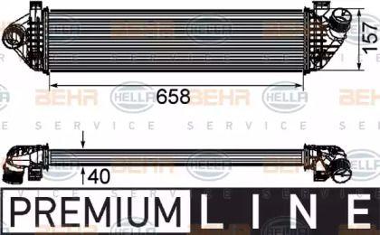 Інтеркулер HELLA 8ML 376 746-581.