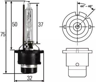 Лампа фары на Лянча Тезис 'HELLA 8GS 007 949-261'.