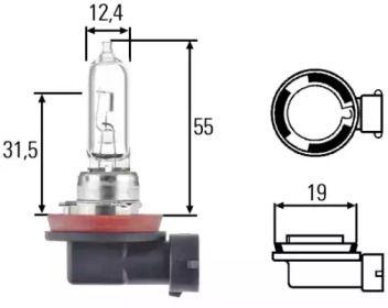 Лампа фары на Инфинити ЕХ 'HELLA 8GH 008 357-001'.