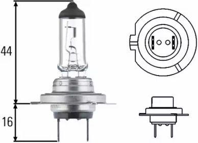 Лампа фары на KIA CEED SW 'HELLA 8GH 007 157-121'.