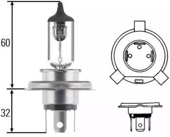 Лампа фары на VOLKSWAGEN JETTA 'HELLA 8GJ 002 525-131'.