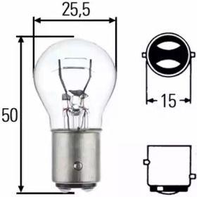 Лампа фары 'HELLA 8GD 002 078-221'.