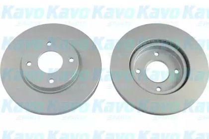 Вентилируемый тормозной диск на Ниссан Куб 'KAVO PARTS BR-6807-C'.