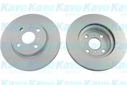 Вентилируемый тормозной диск на TOYOTA YARIS 'KAVO PARTS BR-9481-C'.