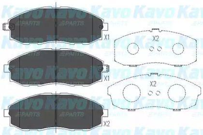 Гальмівні колодки на Мазда Триб'ют 'KAVO PARTS KBP-3003'.