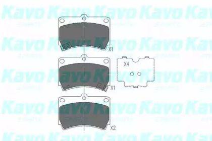 Гальмівні колодки на MAZDA DEMIO KAVO PARTS KBP-4501.