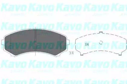 Гальмівні колодки на MAZDA MPV 'KAVO PARTS KBP-4504'.
