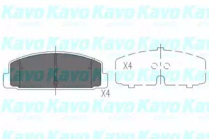 Гальмівні колодки на MAZDA PREMACY  KAVO PARTS KBP-4506.