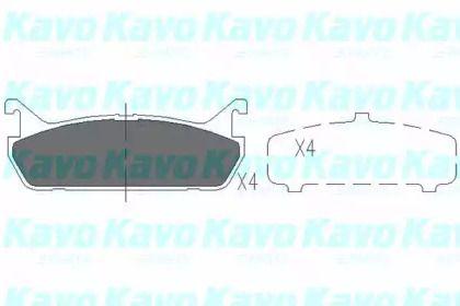 Гальмівні колодки на MAZDA MX-5 'KAVO PARTS KBP-4507'.