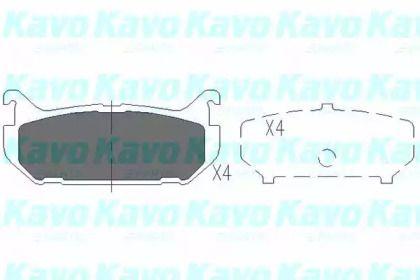 Гальмівні колодки на Мазда МХ6 'KAVO PARTS KBP-4508'.