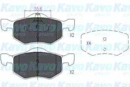 Гальмівні колодки на MAZDA TRIBUTE 'KAVO PARTS KBP-4541'.