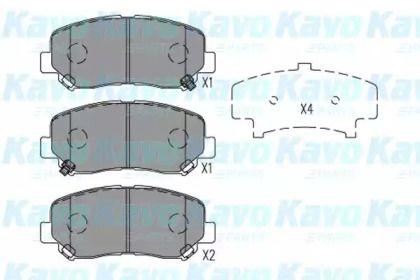 Гальмівні колодки на Мазда СХ5 KAVO PARTS KBP-4563.