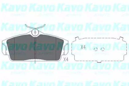 Тормозные колодки 'KAVO PARTS KBP-6509'.