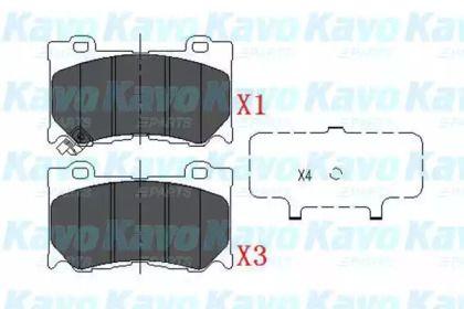 Тормозные колодки на NISSAN 370Z 'KAVO PARTS KBP-6581'.