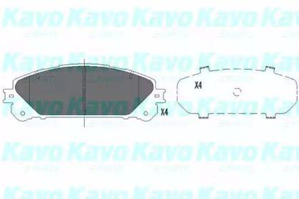 Гальмівні колодки на LEXUS NX 'KAVO PARTS KBP-9116'.